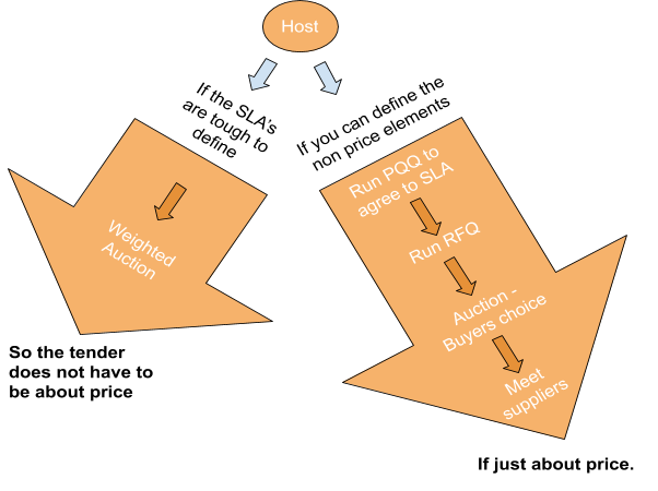 The process for a host running an eAuction