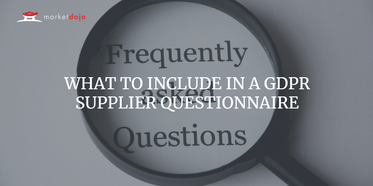 Free to use GDPR Supplier Questionnaire Template